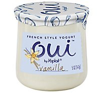 Yoplait Oui Yogurt French Style Vanilla - 5 Oz