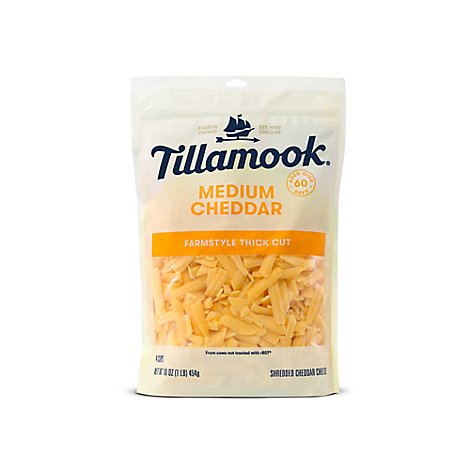 Tillamook Medium Cheddar Farmstyle Cut - 16 Oz