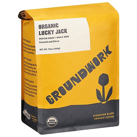 Groundwork Lucky Jack Whole Bean - 12 Oz