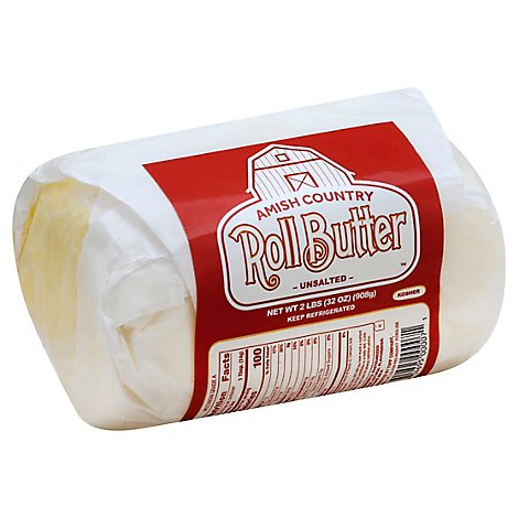 Amish Country Butter Roll Unsalted - 2 Lb