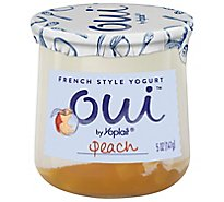 Yoplait Oui Yogurt French Style Peach - 5 Oz