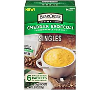Bear Creek Singles Soup Mix Microwaveable Cheddar Broccoli - 6-1.27 Oz