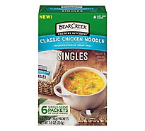 Bear Creek Singles Soup Mix Microwaveable Classic Chicken Noodle - 6-1.27 Oz