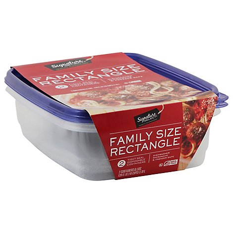 Signature SELECT Containers Storage Tight Seal BPA Free Family Size - 2 Count