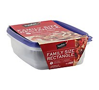 Signature SELECT/Home Containers Storage Family Size Tight Seal BPA Free - 2 Count