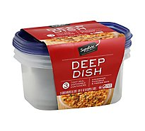Signature SELECT Containers Storage Tight Seal BPA Free Deep Dish - 3 Count