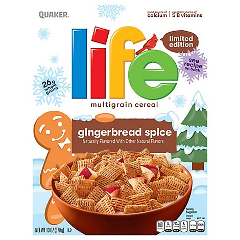 Quaker Life Cereal Multigrain Gingerbread Spice Limited Edition - 13 Oz
