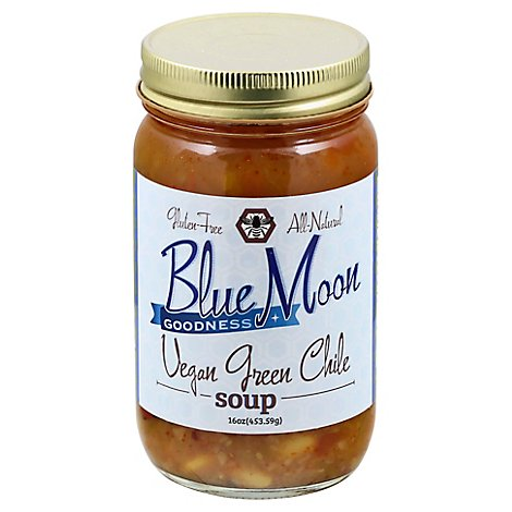 Blue Moon Goodness Soup Vegan Green Chile - 16 Oz