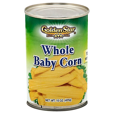 Golden Star Baby Corn/On Cob - 15 Oz