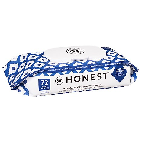 The Hones Wipes Blue Ikat - 72 Piece