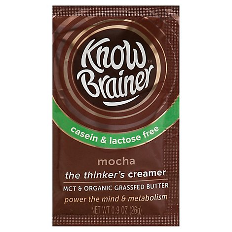 Know Brainer Foods Coffee Creamer Ketogenic Lactose Free Mocha - 1 Oz