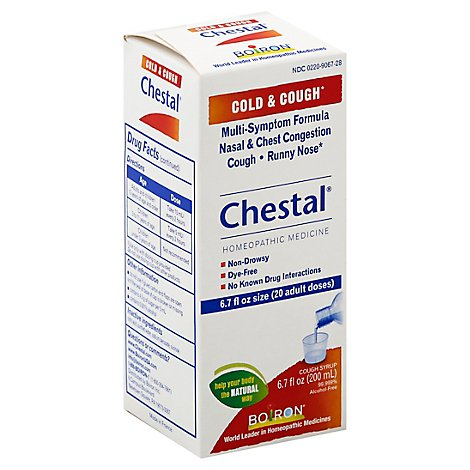 Chestal Boiron Cold Cough - 6.7 Oz