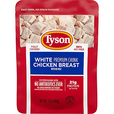 Tyson Chicken Premium Chunk White - 7 Oz