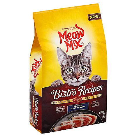 Meow Mix Bistro Recipes Cat Food Dry Seared Tuna Flavor - 48 Oz