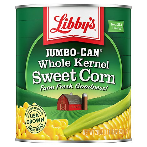 Libbys Corn Whole Kernel Sweet Jumbo-Can - 29 Oz