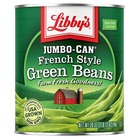Libbys Green Beans French Style Jumbo-Can - 28 Oz