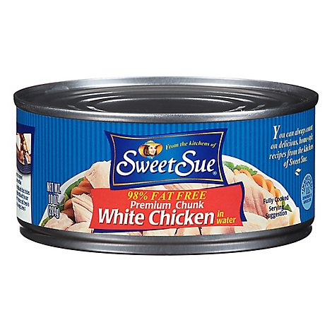 Sweet Sue Premium White Chicken Chunk in Water 98% Fat Free - 10 Oz