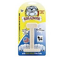 Bullibone Dog Chew Nylon Oral Care Bone Peanut Butter Small - Each