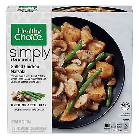 Healthy Choice Cafe Steamers Meals Chicken Marsala Grilled with Mushrooms - 9.9 Oz