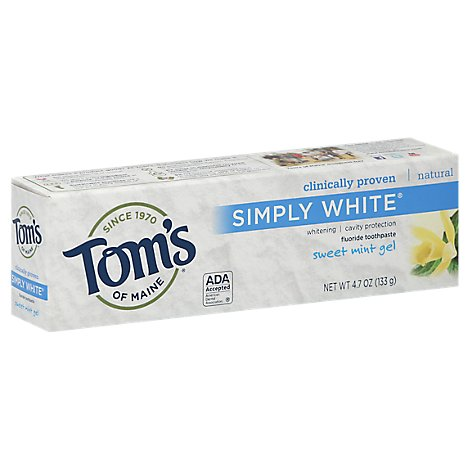Toms Of M Tthpste Whte Gel Mint Swt - 4.7 Oz