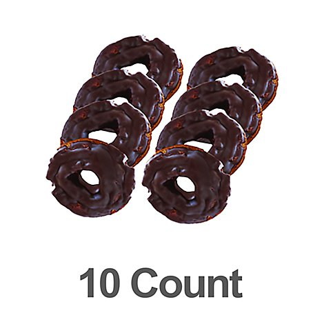 Bakery Donut Old Fashion Chocolate 10 Count - Each