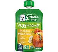 Gerber 2nd Foods Baby Food Sitter Organic Pumpkin Banana Carrot - 3.5 Oz