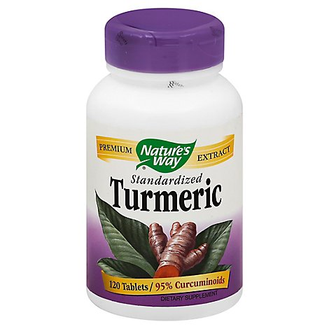 Natures Way Turmeric Standardized Tablets - 120 Count