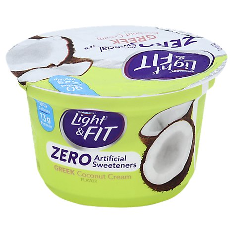 Dannon Light N Fit Greek Zero Coconut Cream - 5.3 Oz