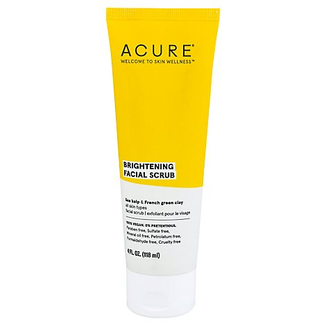Acure Scrub Facial Brightening - 4 Fl. Oz.