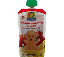 O Organics Organic Baby Food Stage 2 Banana Strawberry & Apple - 4 Oz