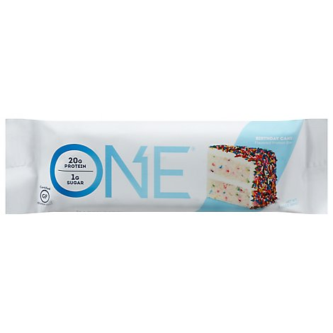 Oh Yeah! Protein Bar One 1g Sugar Birthday Cake - 2.12 Oz