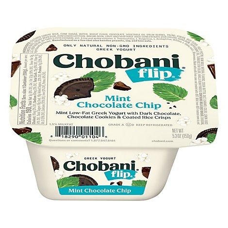 Chobani Flip Yogurt Greek Mint Chocolate Chip - 5.3 Oz