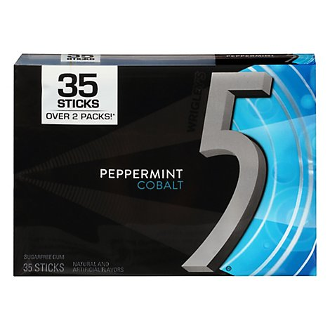 5 Gum Peppermint Cobalt Sugarfree Gum Single Pack 35 Stick