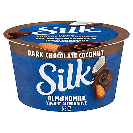 Silk Yogurt Alternative Dairy Free Dark Chocolate Coconut Almondmilk - 5.3 Oz