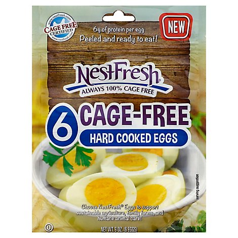 Nestfresh Cage Free Hard Cooked Eggs - 6 Count