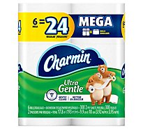 Charmin Ultra Gentle Bathroom Tissue Mega Rolls 2 Ply Sheets - 6 Roll
