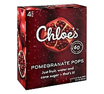 Chloes Pomegranate Soft Serve Fruit Pop - 4-2.5 Fl. Oz.