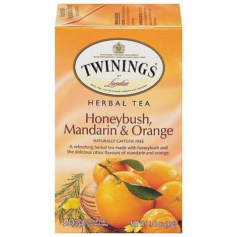 Twining Honeybush Mandarin Orange - 20 Count