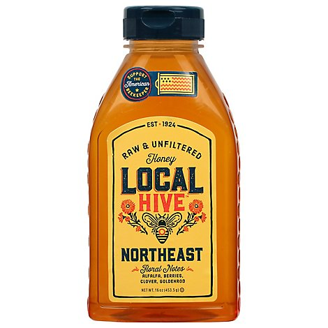 Local Hive Honey Raw & Unfiltered Northeast - 16 Oz