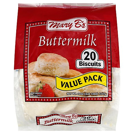 Mary Bs Biscuits Buttermilk Value Pack 20 Count - 44 Oz