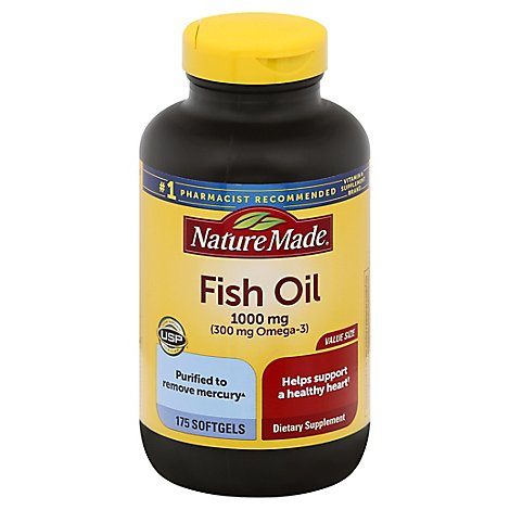 Nature Made Fish Oil 1000mg - 175 Count