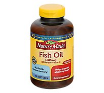 Nature Made Dietary Supplement Softgels Fish Oil Value Oil 1200 Mg - 150 Count