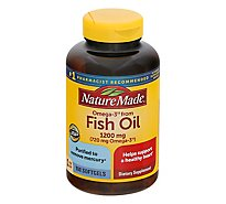 Nature Made Dietary Supplement Softgels Fish Oil Value Oil 1200 Mg - 100 Count