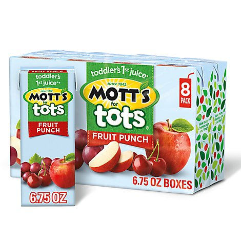 Motts For Tots Juice Fruit Punch - 8-6.75 Fl. Oz.