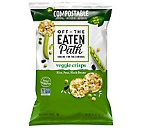 Off The Eaten Path Crisp Veggie Rice Peas Black Bean Bag - 6.25 Oz