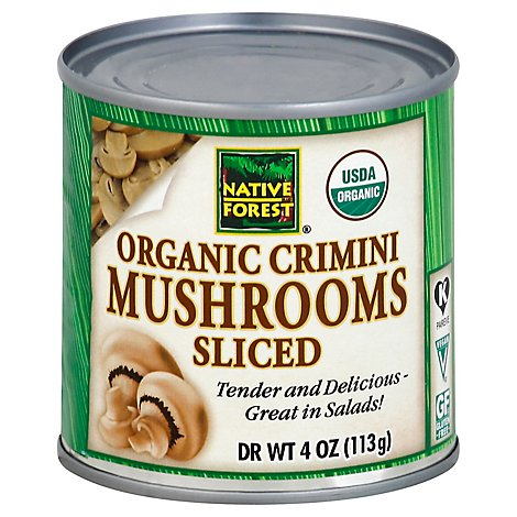 NATIVE FOREST Organic Mushrooms Sliced Crimini - 4 Oz