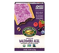 Natures Path Organic Toaster Pastries Frosted Wildberry Acai 6 Count - 11 Oz