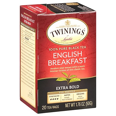 Twinings of London Black Tea English Breakfast Extra Bold - 20 Count