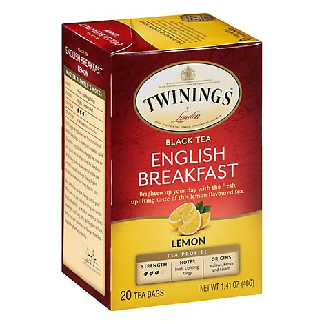 Twining T Tea Engl Brkfst Lemon - 20 Count