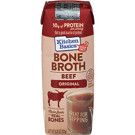 Kitchen Basics Bone Broth Original Beef - 8.25 Oz